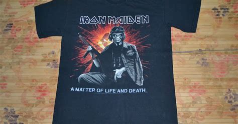 H M Tshirt Anak Whale Limited anak liar rocks iron maiden band a matter of and world tour t shirt sold