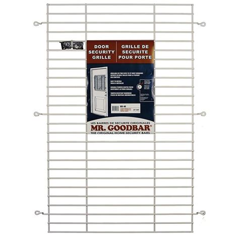 Lowes Back Doors by Shop Mr Goodbar 27 In White Back Door Grille Window Security Bar At Lowes