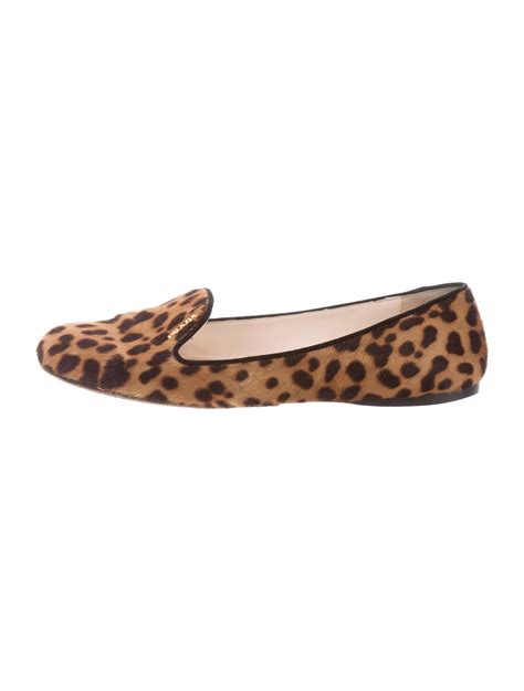 cheetah print loafers prada ponyhair cheetah print loafers shoes pra138200