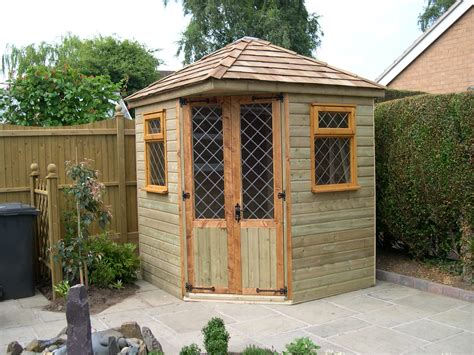 corner summer house pitched roof