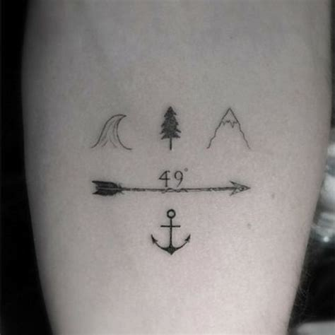 tattoo cost vancouver little forearm tattoo of cartography symbols for a coast