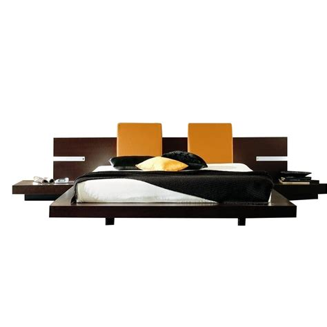 Platform Bed With Lights Rossetto Win Floating Platform Bed In Wenge With Lights King Ebay