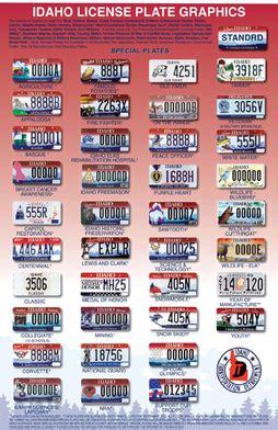 Car License Types vehicle registration plates of idaho