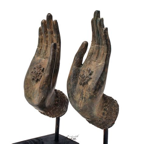 Buddha Statues Home Decor buddha hand statues freedom gesture in pair siam sawadee