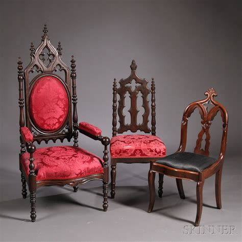 gothic victorian furniture gothic revival side chairs bidsquare