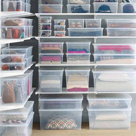 How To Organize Clothes Without A Dresser by Shoe Box Our Clear Plastic Shoe Box The Container Store