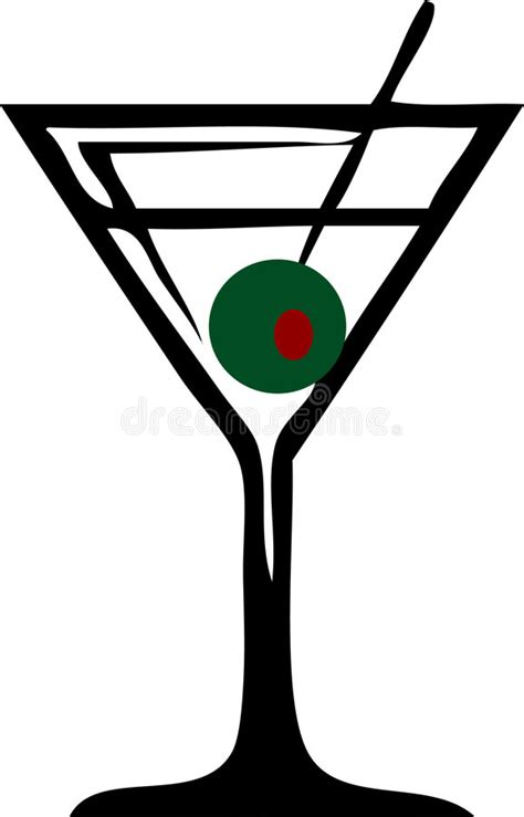 blue martini clip art martini glas stock abbildung illustration von schwarzes