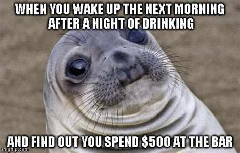 The Morning After Meme - awkward moment sealion meme imgflip