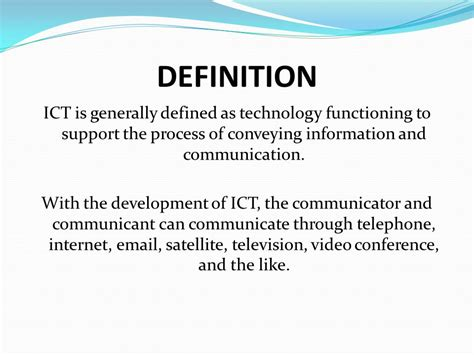 theme communication definition ict in language learning ppt video online download