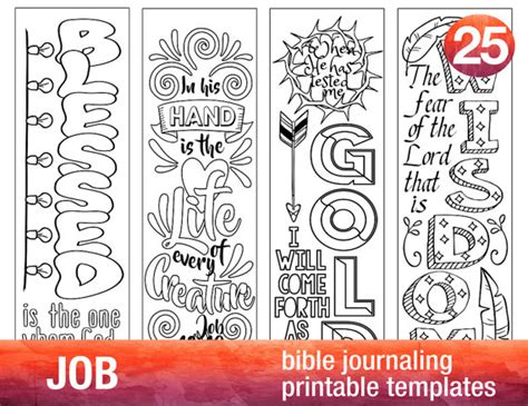 job 4 bible journaling printable templates illustrated