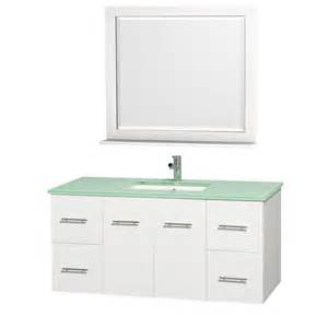 centra white 48 quot modern single sink bathroom vanity