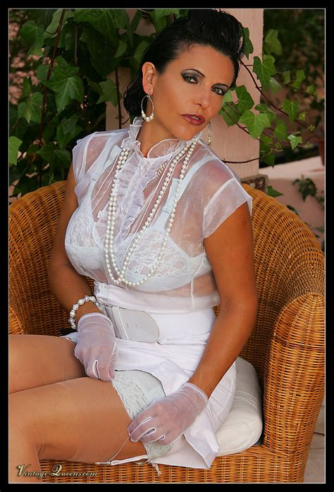 Luxurious Brunette Milf In A White Dress An Xxx Dessert