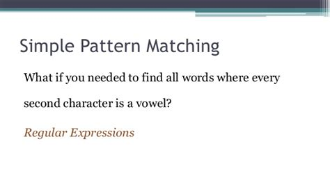 pattern matching in unix regular expressions 101 introduction to regular expressions