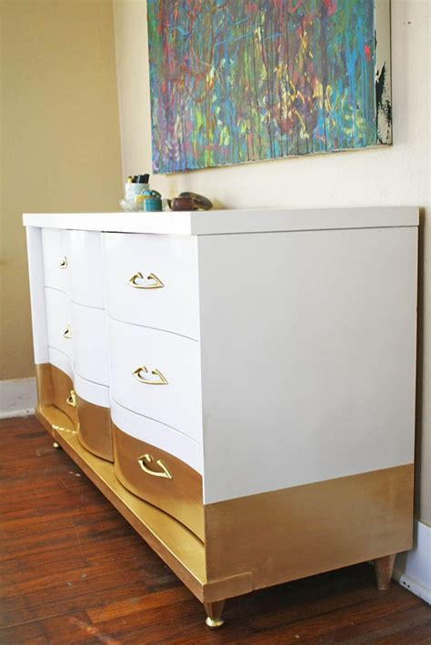 Gold Dipped Dresser by Sold Curvy Gold Dipped Dresser Sold