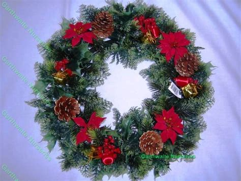 18 quot christmas wreath decoration door artificial xmas red