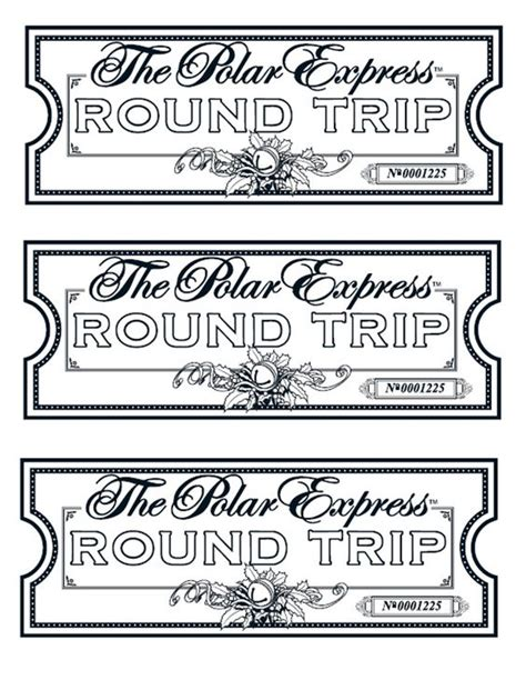 printable minivan express tickets polar express coloring pages best coloring pages for kids
