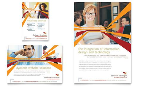 flyer template software computer engineering print ad templates technology