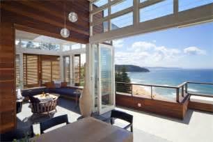 Beach house with views over palm beach near sydney australia has a