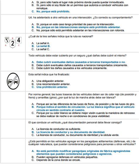 preguntas y respuestas para examen de conducir material bibliogr 225 fico para examen de conducir im 225 genes