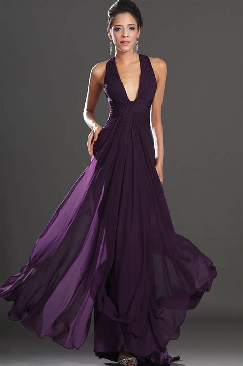 purple dress edressit 2013 new adorable halter purple evening