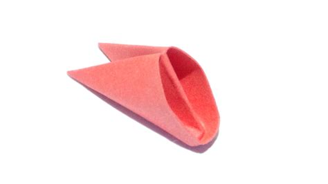 Origami Triangle Pieces - folding the pieces 3d origami basics