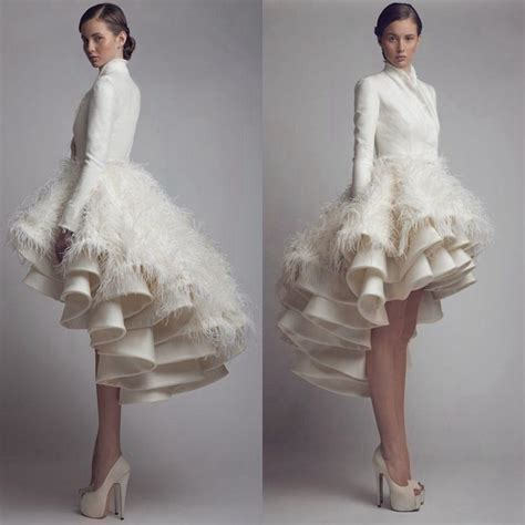 High Designer Wedding Dresses by Discount Designer Krikor Jabotian High Low Wedding Dresses