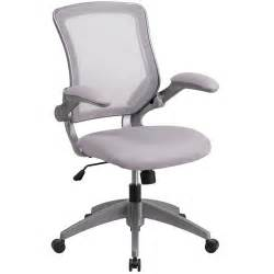 mid back gray mesh office chair task chair with flip up