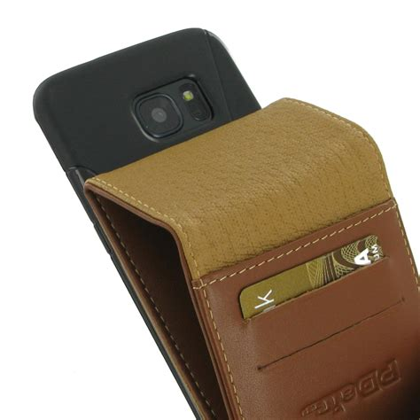 Flip Wallet Samsung S7 Edge Leather samsung galaxy s7 edge leather flip wallet brown pdair