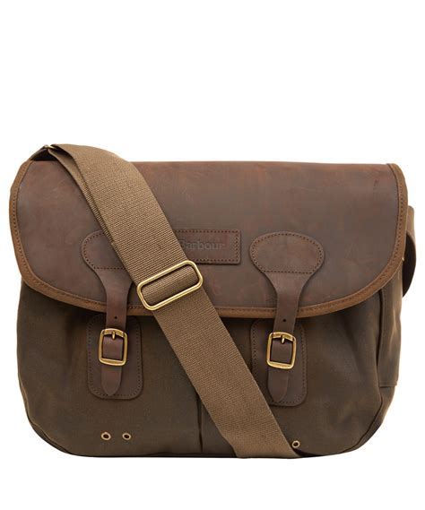 Filma Signature Olive Pouch 2 L barbour medium olive tarras leather and wax cotton bag in green for lyst