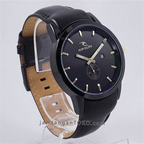 Ripcurl Detroit Chrono Detik Leather Obral Sale gambar rip curl detroit black leather kw 1 bagian sing