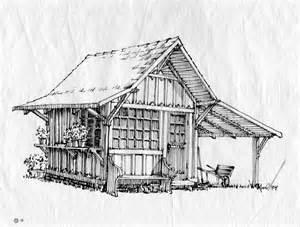 Shed Drawing by The Garden Shed Bird Poo 101 Smallhousepress