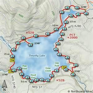 oregon cgrounds map timothy lake loop hike
