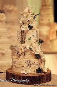 nature inspired birch tree wedding cake wedding pinterest initials wedding and nature