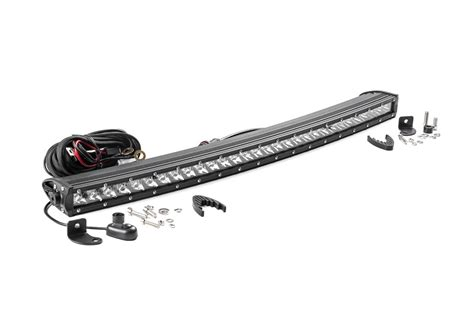 Single Row Led Light Bar 30 Inch Single Row Curved Cree Led Light Bar 72730 Country Suspension Systems 174