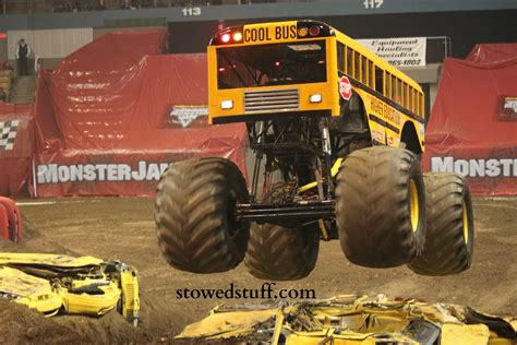 monster truck bus videos monster trucks at monster jam stowed stuff