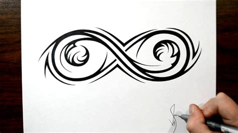 infinity tribal tattoo drawing an elaborate infinity symbol tribal