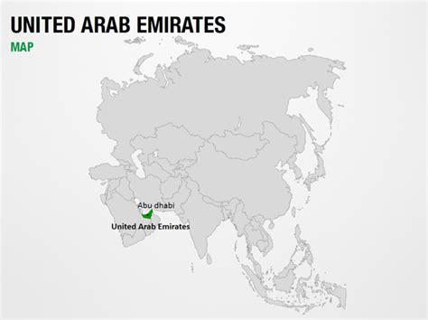 uae in world map united arab emirates on world map powerpoint map slides