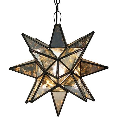 mexican tin lighting collection antiqued glass star lamc03