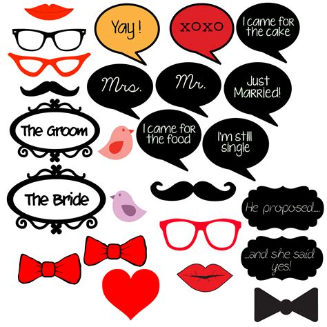 Wedding Props Template shareyourlovewithcards photo booth props and alternative