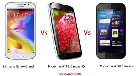 compare micromax doodle and galaxy grand compare samsung galaxy grand vs micromax a116 canvas hd vs
