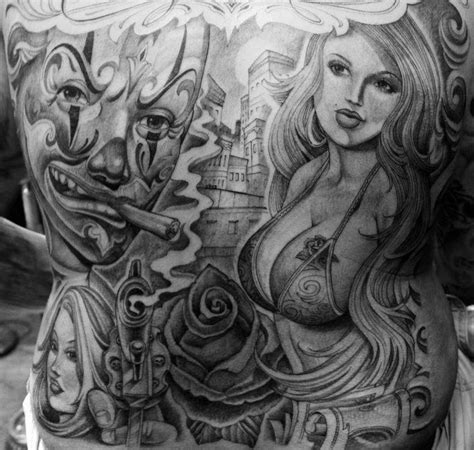 sick black amp grey tattoo by mister cartoon