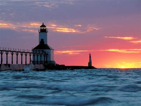 michigan city east pier lighthouse michigan city indiana