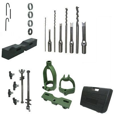 Wood Mortising Mortise Chisel Jig Attachment Kit For Drill