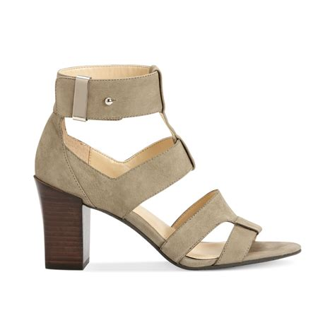 klein sandals calvin klein womens carrie sandals in green olive lyst