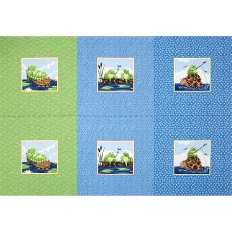 Fabric Pillow Panels by Susybee Paul Sheldon Fishing Pillow Panel Blue