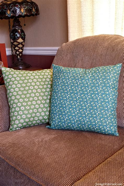 How To Make Throw Pillow Slipcovers From Cloth Napkins