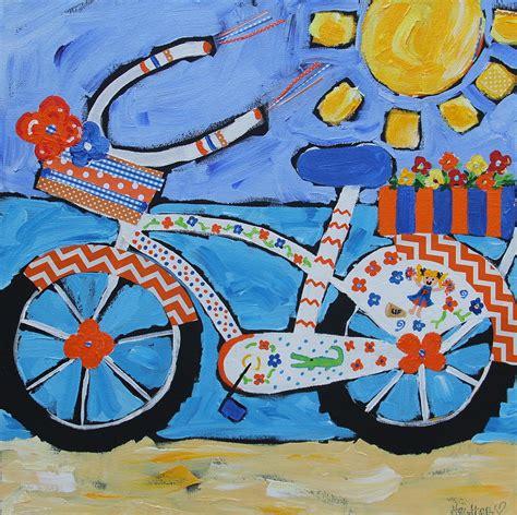 painting happy bike florida bike painting by happy
