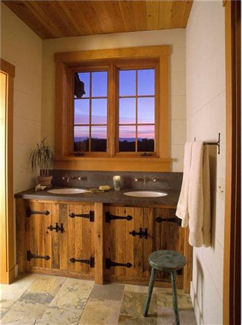 homey country rustic bathroom by jessica helgerson
