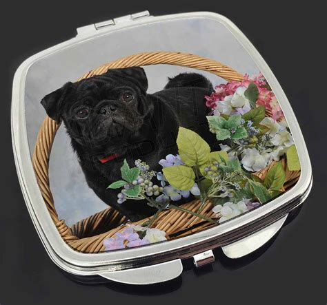 black pug gifts black pug make up compact mirror filler gift id 106934