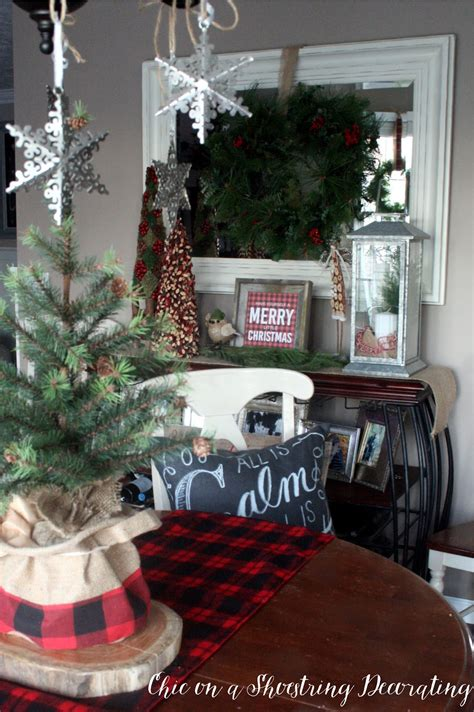 chic on a shoestring decorating farmhouse christmas decor merry bright home tour part 1